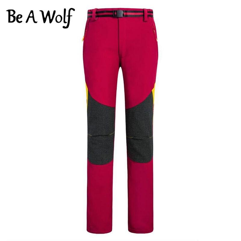 Be A Wolf Hiking Pants Outdoor Fishing Camping Skiing Hunting Clothes Sport Cycling Trekking Softshell Winter Men Women Ski Pant