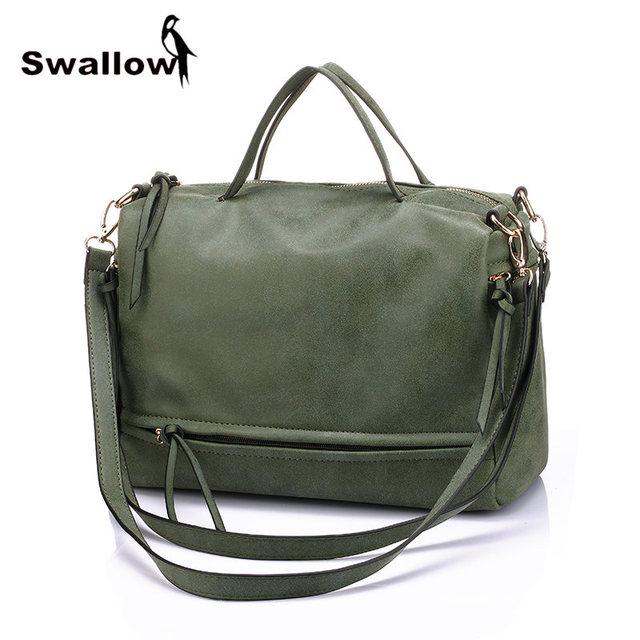Army Green Women Shoulder Bags Famous Brand 2016 Motorcycle Nubuck Matte  Bags Handbags Women Famous Brands PU Leather Shopping 644942d545e0a