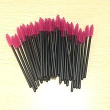 hot deal buy 50pcs eyelash brushes makeup brushes disposable mascara wands applicator eye lashes cosmetic brush makeup tools
