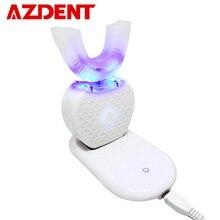 360度インテリジェント自動ソニック電動歯ブラシuタイプ4モード歯ブラシusb充電歯美白青色光