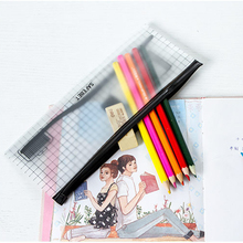 Transparent Toothbrush Cosmetic Bag Women Travel Makeup Pencil Case Organizer Storage Pouch School Student