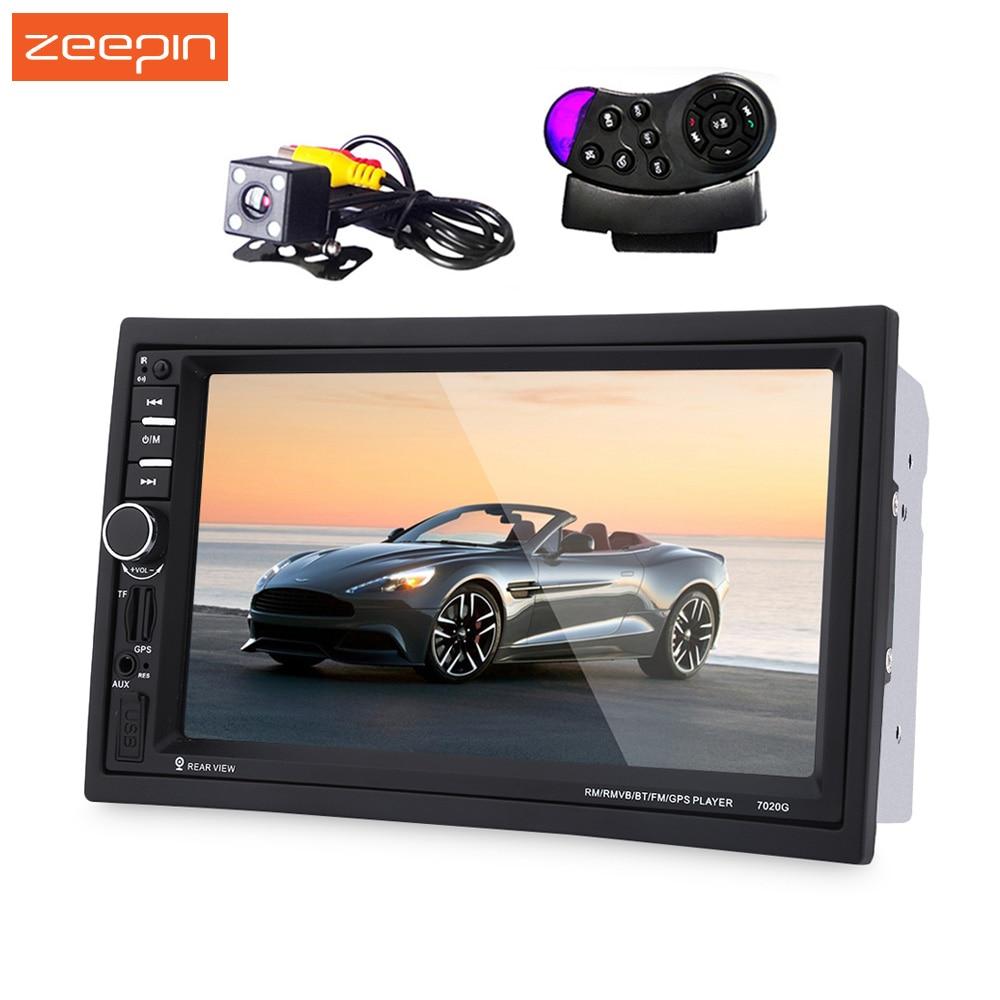 Zeepin 7020G 2 Din Auto Car Multimedia Player GPS Navigation 7'' HD Touch Screen MP3 MP5 Audio Stereo Radio Bluetooth FM USB