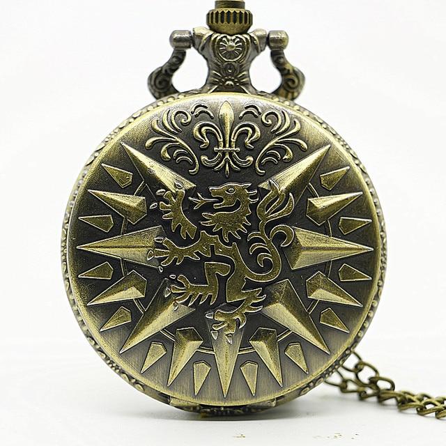 Hear Me Roar LANNISTER Theme Bronze Quartz Pocket Watch Pendant A Song of Ice an