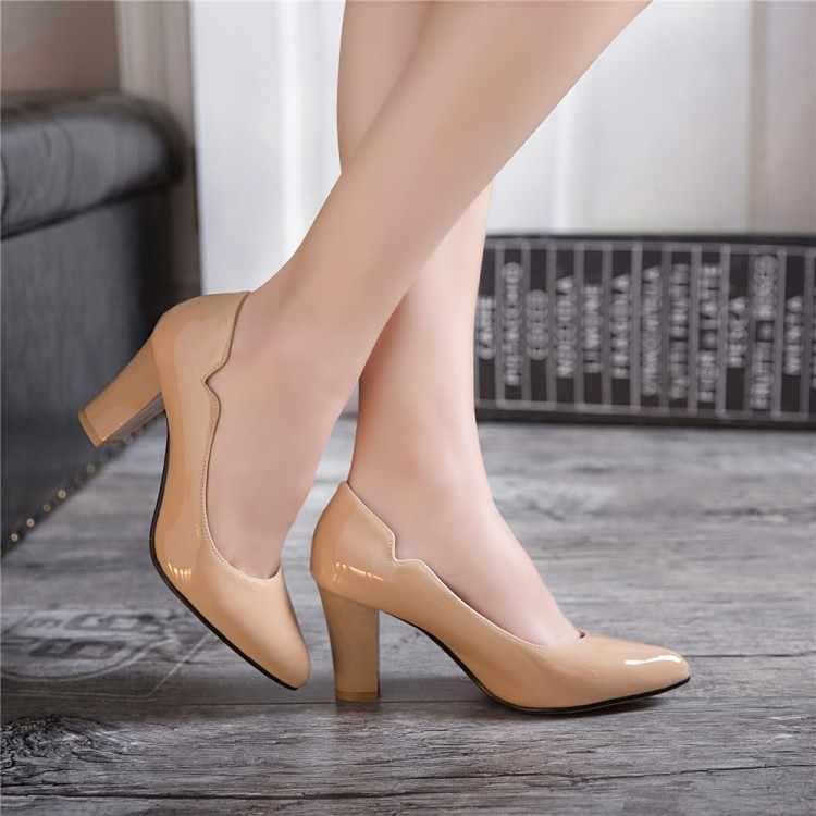 Große Größe 9 10 11 12 13 14 15 16 damen high heels frauen schuhe frau pumpen Wies schwere- mit hohen absätzen einzigen schuh