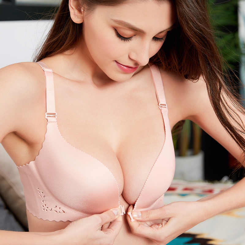 9828 New Brand Sexy Seamless LBBra Gather Adjustable Women Bra Seamless Underwear  Lingerie Super Push Up 14f7d6ced