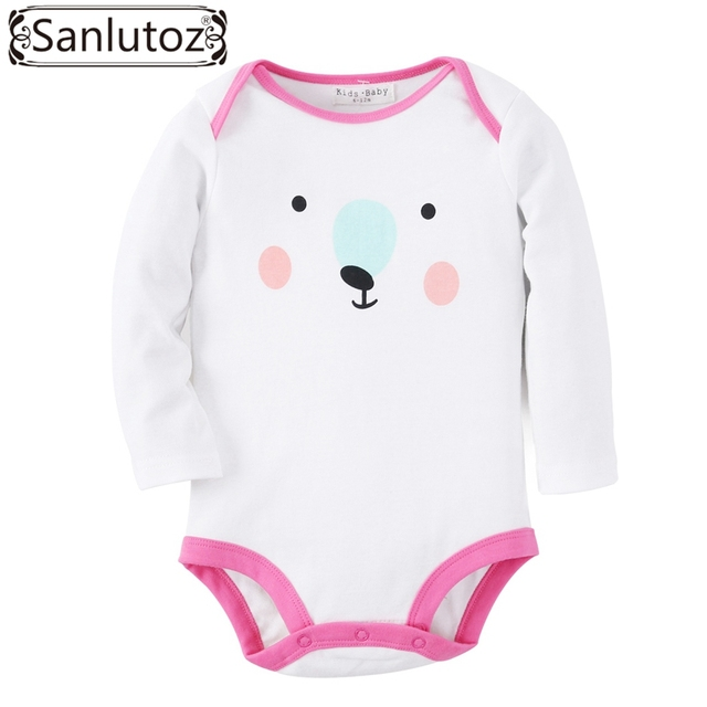 8fbe1d4cf9700 Sanlutoz Baby Bodysuits Infant Baby Clothes Girls Winter Animal Bear  Jumpsuits Baby Clothing Cute Long Sleeve