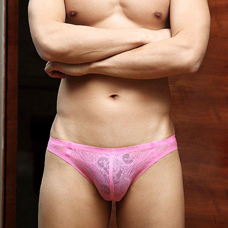 Mens Underwear Briefs Male Seamless Transparent Lace Panties Cockcon Slip Homme Sexy Men Underwear Gay Clothing For Men