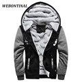 Webontinal marca outono inverno patchwork de veludo quente camisola homens clothing homem treino casual mens hoodies e camisolas