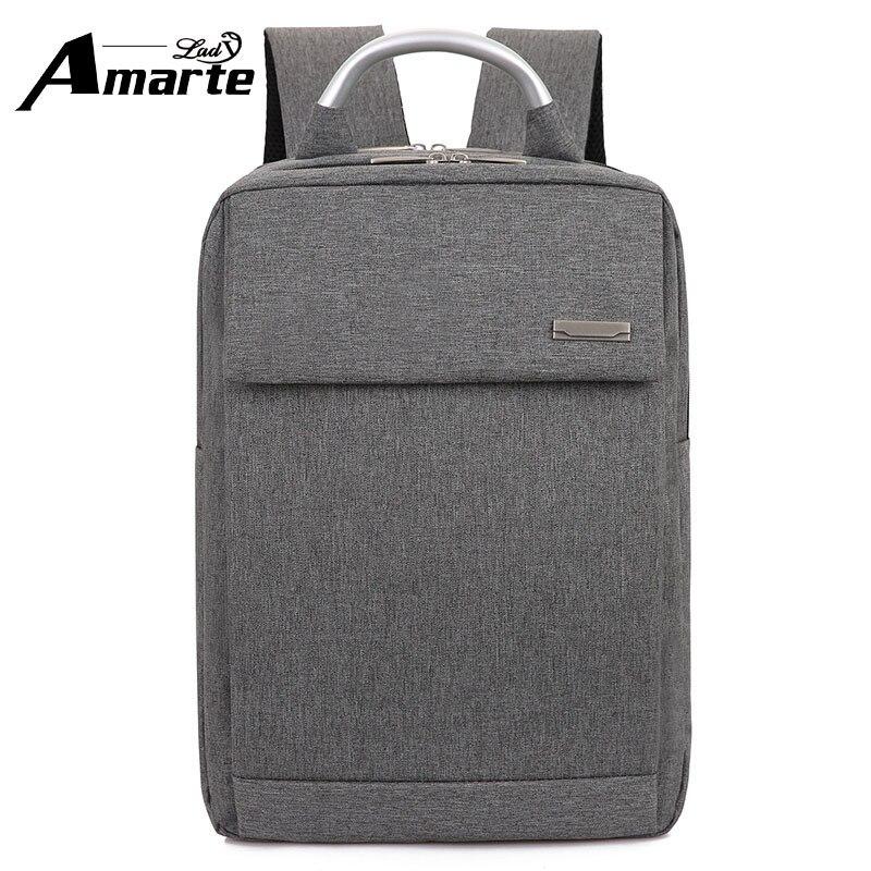 Fashion Computer Backpack  High Quality Canvas Travel Laptop Backpacks Hard Handle Men's Business Shoulder Bag