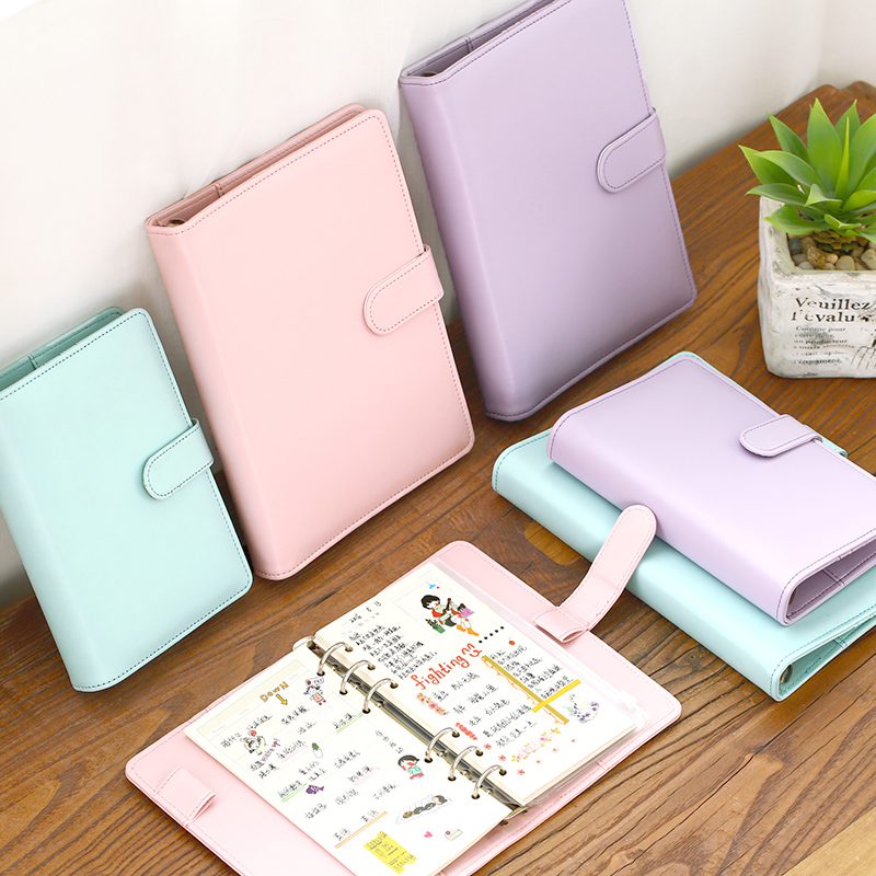 1 Pc/Lot Durable & Classic A5 & A6 PU leather-Cover Spiral-Page Notebook & Diary for School Stationery & Office Supply спицы круговые алюминиевые с покрытием 80см 5 0мм 940150 940105 page 6