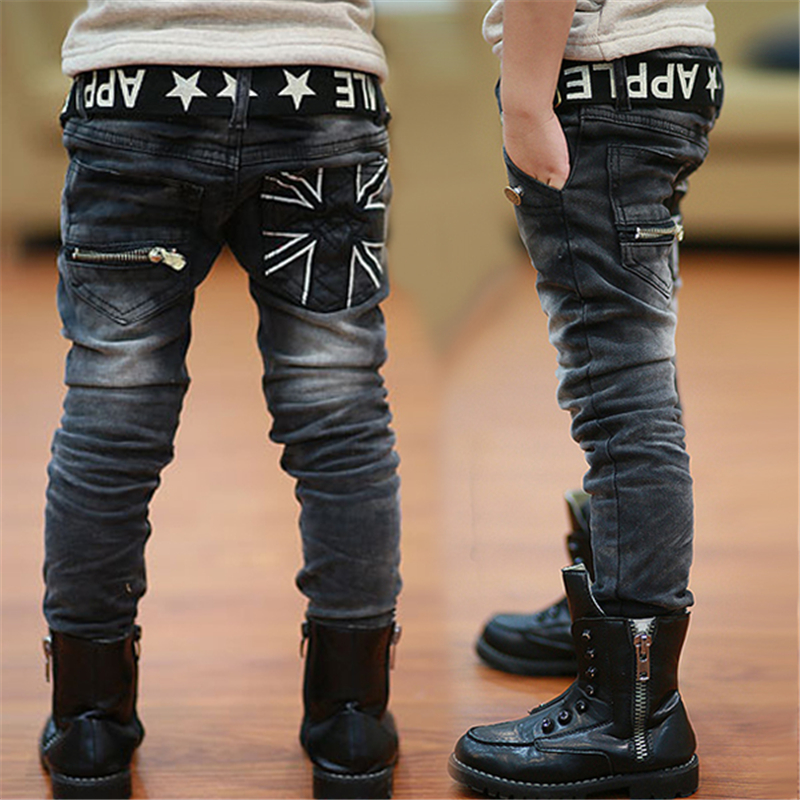 Fashion boys jeans, fashion children pants high quality kids Spring and Autumn Rice word casual trousers boys jeans 2 to 14 year