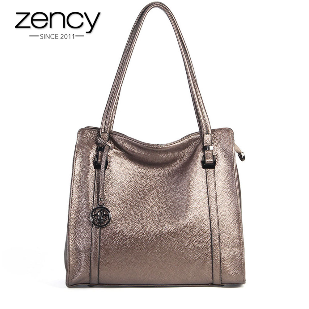 Zency 100% Real Cow Leather Soft Skin Fashion Women Shoulder Bag Black Hobos Female Crossbody Messenger Purse High Quality ToteZency 100% Real Cow Leather Soft Skin Fashion Women Shoulder Bag Black Hobos Female Crossbody Messenger Purse High Quality Tote