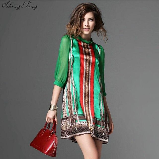 Hippie bohemian style boho hippie dress mexican embroidered dress boho chic dresses Q531 5