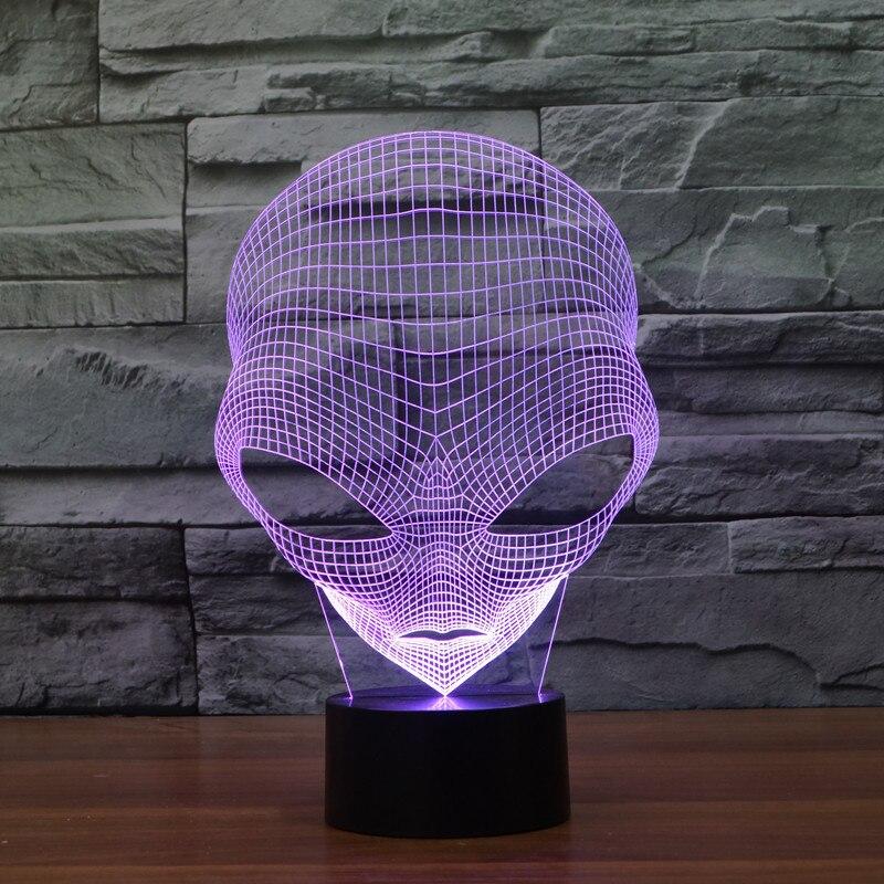 Где купить Martian 3D новинка световая красочная сенсорная Светодиодная лампа для видения USB мощная Подарочная декоративная настольная лампа
