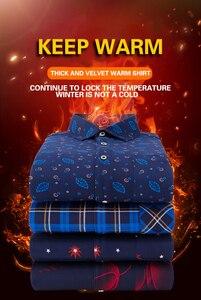 Image 3 - AOLIWENM 2020 moda erkek gömleği bluz erkek kış kalın sıcak baskı kafes 26 renk artı kadife kalınlaşma yeni sıcak gömlek