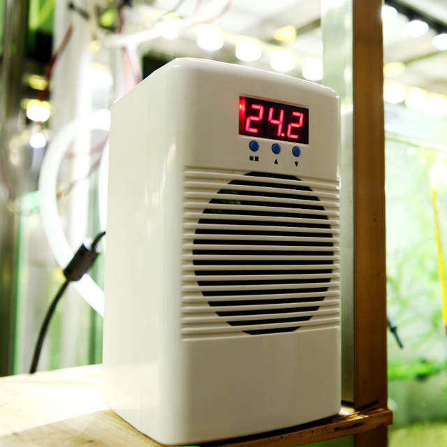 US $106 12 35% OFF|72w 110 240v Aquarium Water Chiller Warmer/cooler  Temperature Controller For Fish Shrimp Tank Marine Coral Reef Tank Below  20L-in