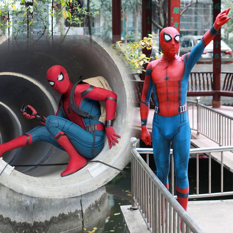 2018 New Adult Men Kids Spider Man:Homecoming Spiderman