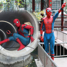 2018 New Adult Men Kids Spider Man:Homecoming Spiderman Cosplay Costume Zentai Superhero Bodysuit Suit Jumpsuits