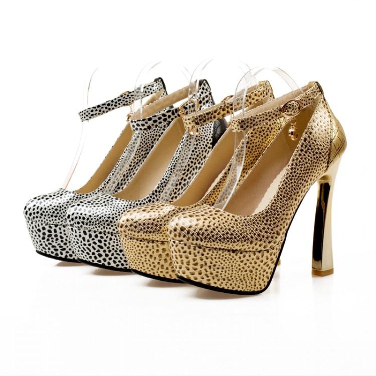 ФОТО Fashion Platform Pumps Sexy High-heeled Shoes Heels Round Toe Platform Shoes Women's Wedding Prom Shoes Size 33-43 128-13