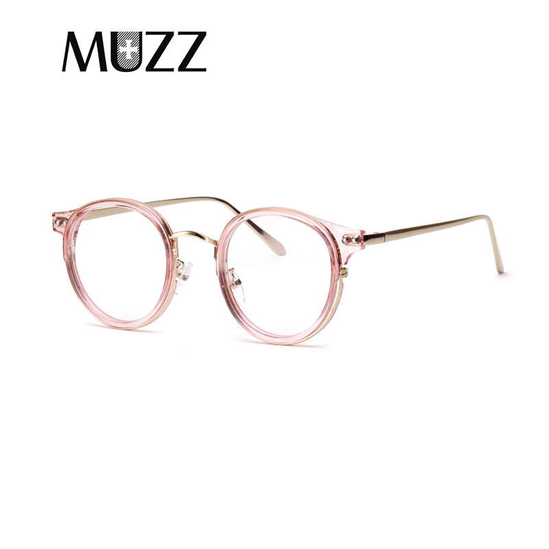 0559ef486f MUZZ Vintage Eyeglass Women Frame Myopia Optical Eyewear Frames Glasses  Clear Pink spectacle oculos de grau