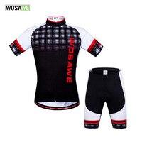 Wosawe Esqueleto Traje Ciclismo Ciclismo Jersey e Calções grade Britânico Camisa de Ciclismo Esqueleto Silicon Gel Acolchoado Reflexivo|Kits ciclismo| |  -