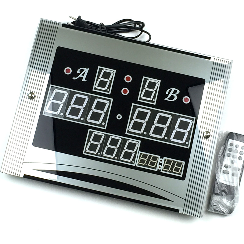 Electronic Digital scoreboard 147T with remote control for Snooker Pool Table can show time Snooker table