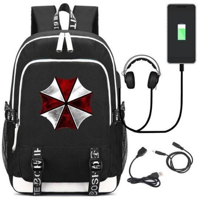 Resident Evil Umbrellal USB Charging Port/Lock Headphone Bag