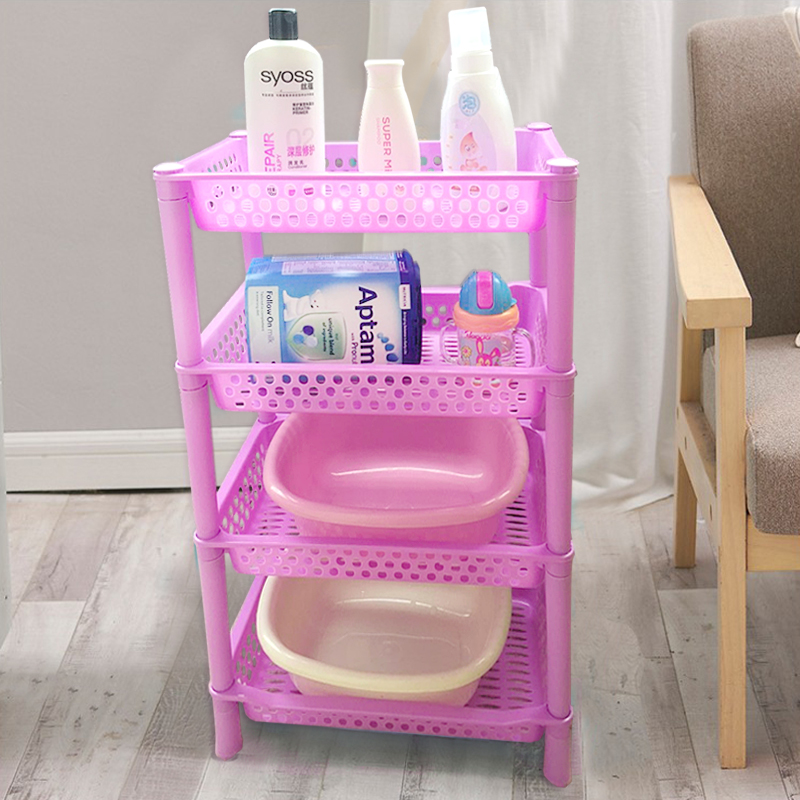 2017 Hot Sale Household Storage Holders 4 Layers Plastic Storage Racks Multi function Top Quality Kitchen