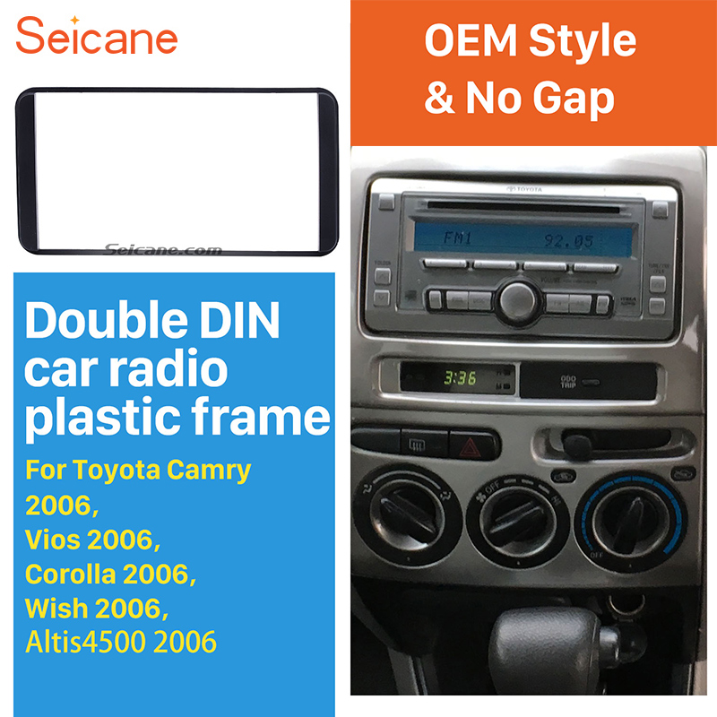 Nº New! Perfect quality 2 din audio fascia toyota and get