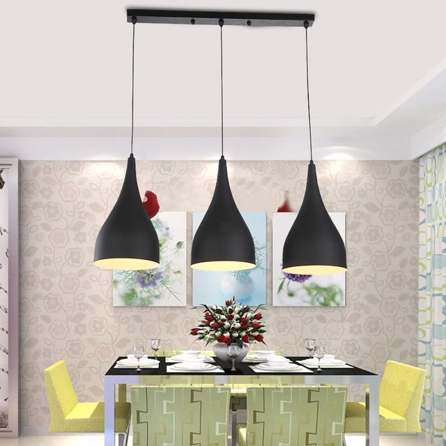 Modern Pendant Light Loft Kitchen Design Rope Lamp Matte Black Painting Iron Simple Style E27 220V For Decor Home Lighting