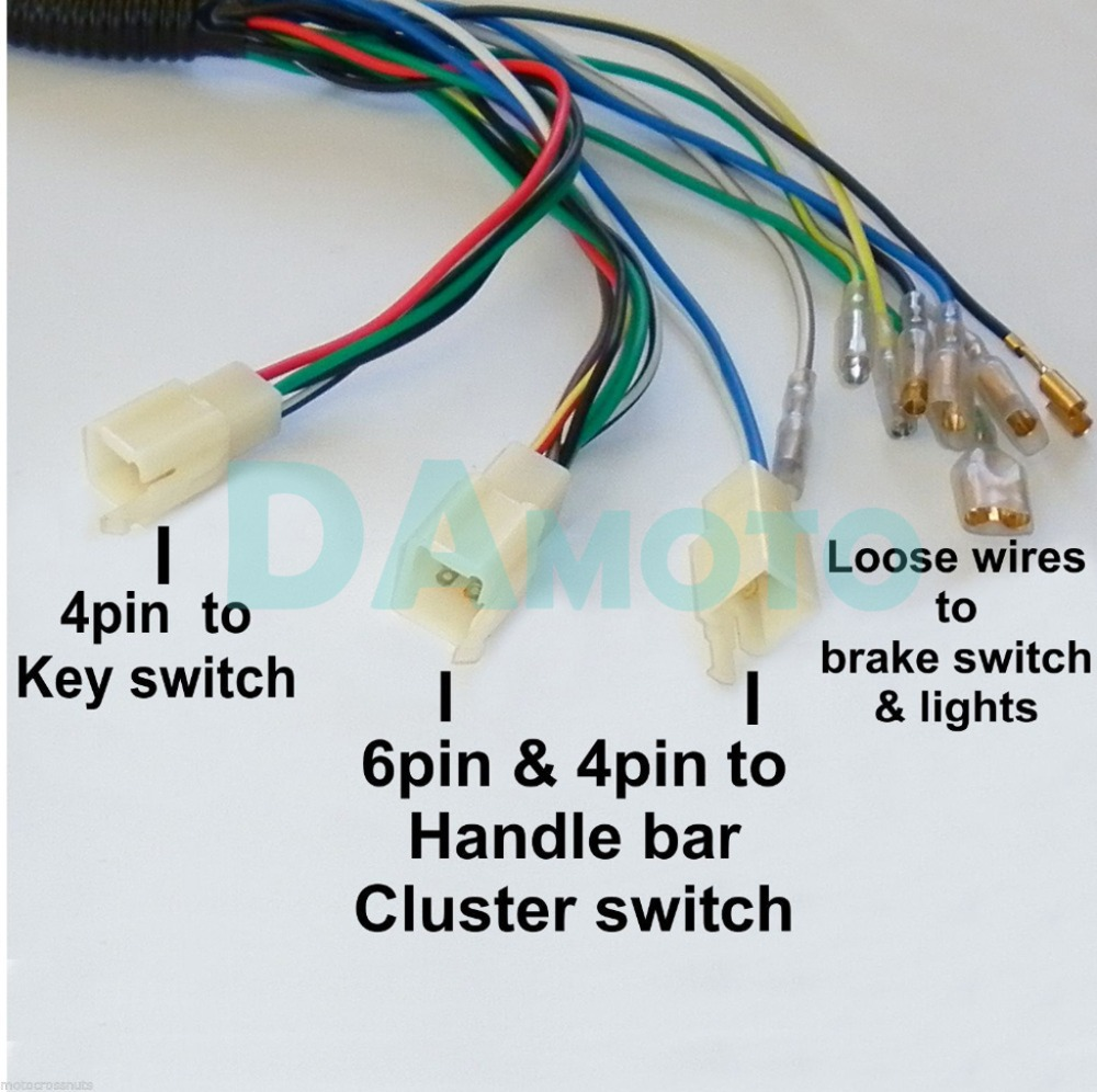 quad wiring harness 200 250cc chinese electric start loncin zongshen ducar lifan free shipping in atv parts accessories from automobiles motorcycles on  [ 1000 x 996 Pixel ]