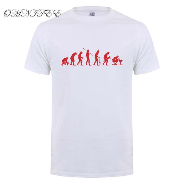 ac71721de12e Omnitee Computer Programmer T Shirts Men New Summer Fashion Men Evolution T Shirt  Short Sleeve Cotton