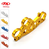 FX CNC Aluminum Motorcycles Front Triple Tree End Upper Top Clamp For Yamaha YZF R1 2004