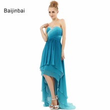 Baijinbai 2018 New Crystal Off-Shoulder Evening Dress Vestidos Short Front Long Back Gradient Prom Celebrity DressesS81701