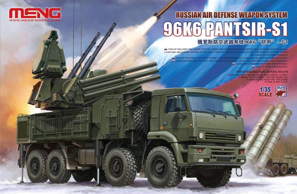 Meng Model 1 35 SS 016 Russian Air Defense Weapon System 96K6 Pantsir S1