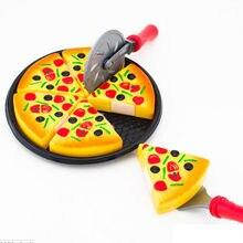 Детские Дети Пластик 6 шт. пиццу ломтики симулировать Еда Кухня ролевая игра Игрушечные лошадки