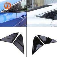 POSSBAY ABS глянцевый черный/черный Углеродные отверстия 1/4 четверть боковая панель с прорезями на окно автомобильный колпак воздухозаборника д...