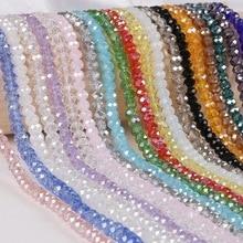 28d9cb430c40 2 3 4 6 8mm alrededor de 70-195 piezas de cuentas de cristal AB multicolor  Sapcer cristal perlas para joyería fabricación DIY pu.
