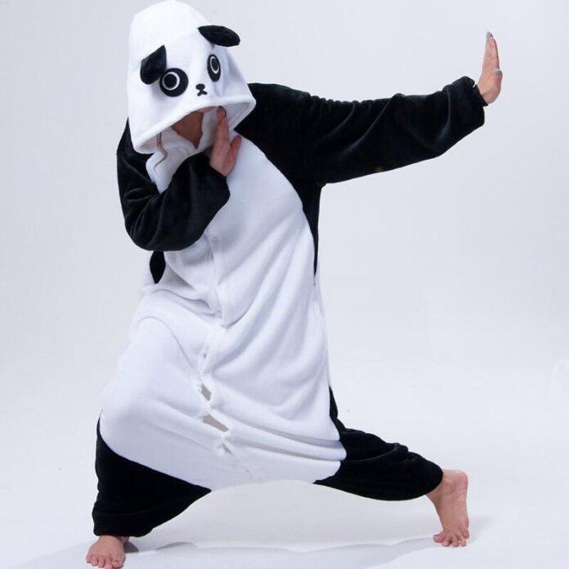 2017 new cosplay costume kung fu giant panda onesie for women men animal pajamas halloween costumes - Kung Fu Panda Halloween