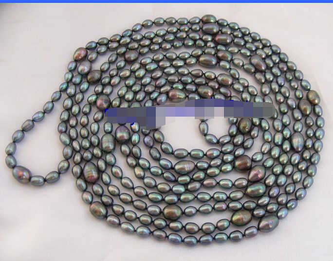 """Мисс очарование Jew1277 SUPER long 100 """"13 мм черный пресноводных культивированный жемчуг ожерелье НОВЫЙ"""