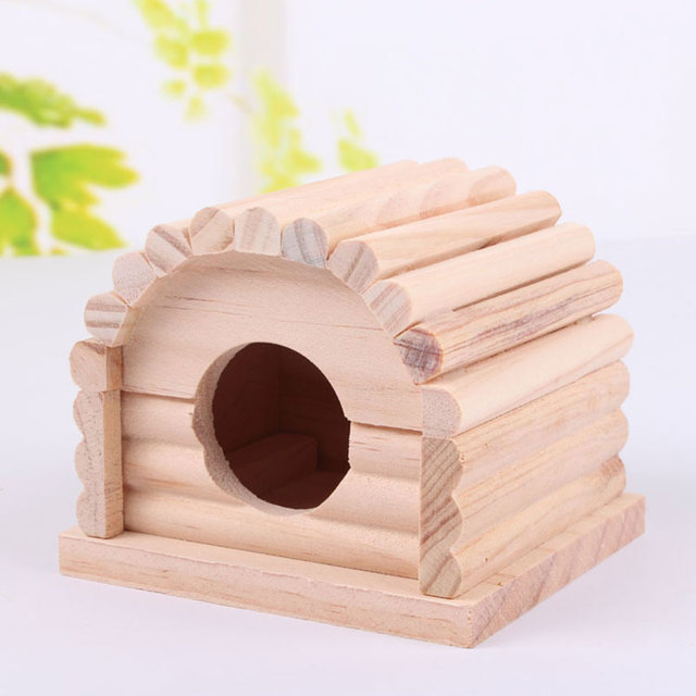 Маленькое Животное Хомяк Голландский Свинья Дерево Дом Домик Отдыха Спальня Съемный