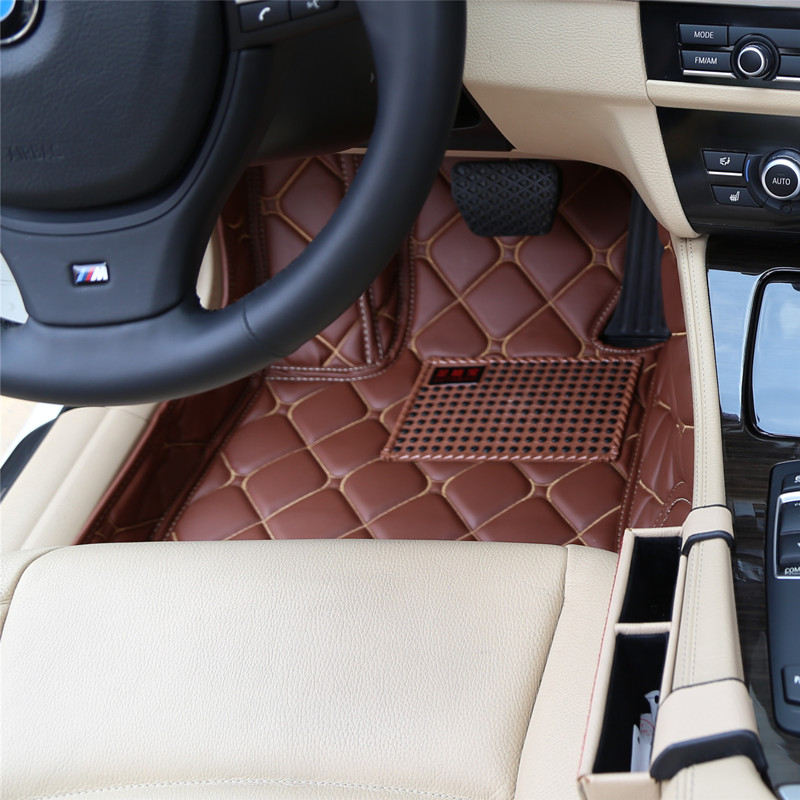 Full Cover Waterproof Carpets Custom Right Hand Drive RHD Car Floor Mats For Cadillac CT6 XTS XT5 SLS CTS ATS ESCALADE SRX XLR