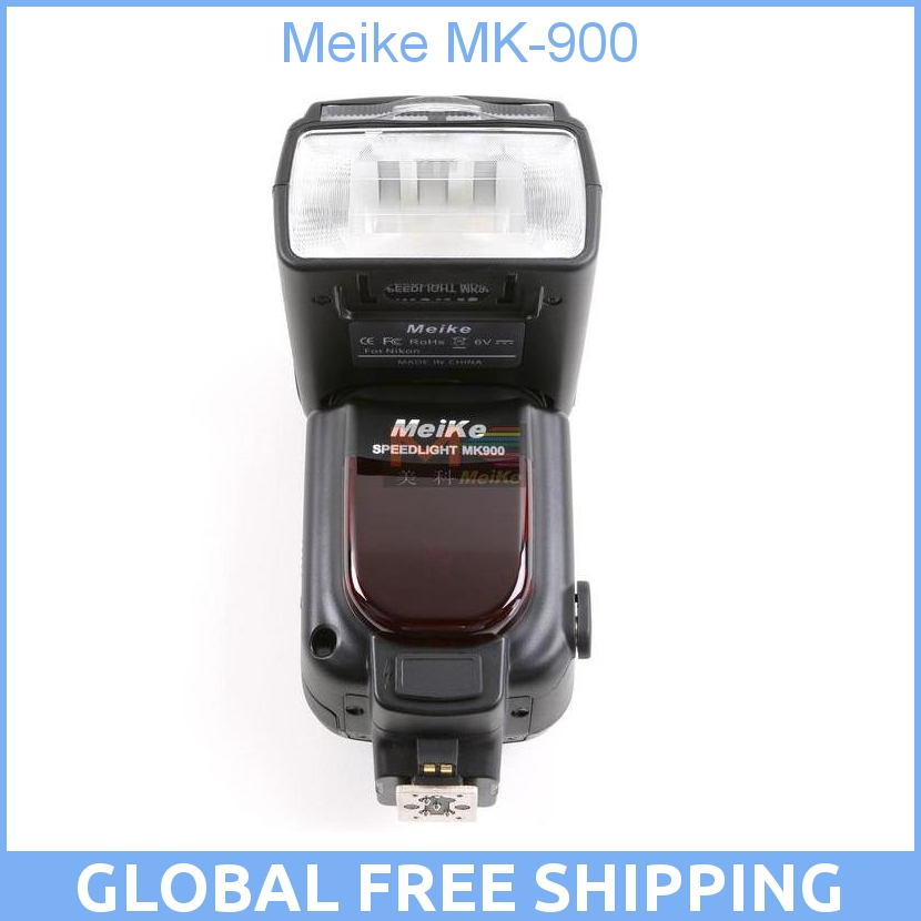 Meike MK-900 MK900 iTTL/i-TTL/ TTL Flash Speedlite Speedlight For Nikon DSLR Camera D7000, D700, P7, D300, D200, D80, D70 genuine meike mk950 flash speedlite speedlight w 2 0 lcd display for canon dslr 4xaa