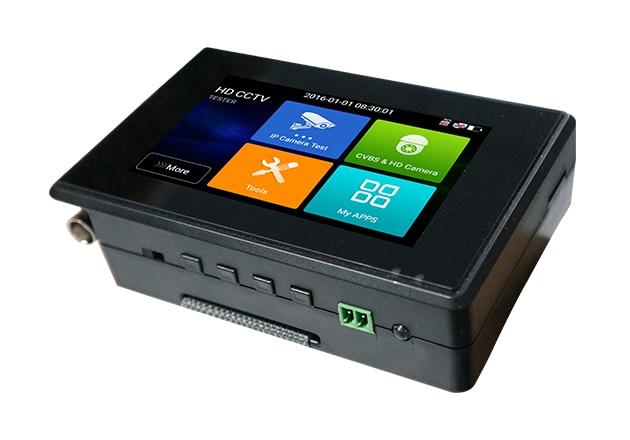 цена на 4 Inch H.265 4K 5 In 1 HD IP CCTV Tester Monitor CVBS CVI TVI AHD Tester 8MP 5MP WIFI ONVIF POE 12V Output