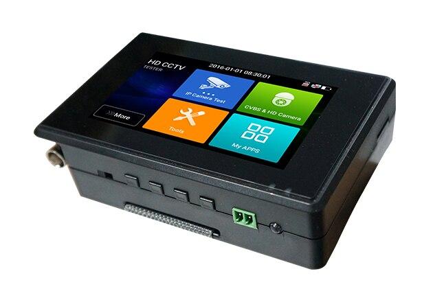цена на Wanglu 4 Inch H.265 4K 5 In 1 HD IP CCTV Tester Monitor CVBS CVI TVI AHD Tester 8MP 5MP WIFI ONVIF POE 12V Output