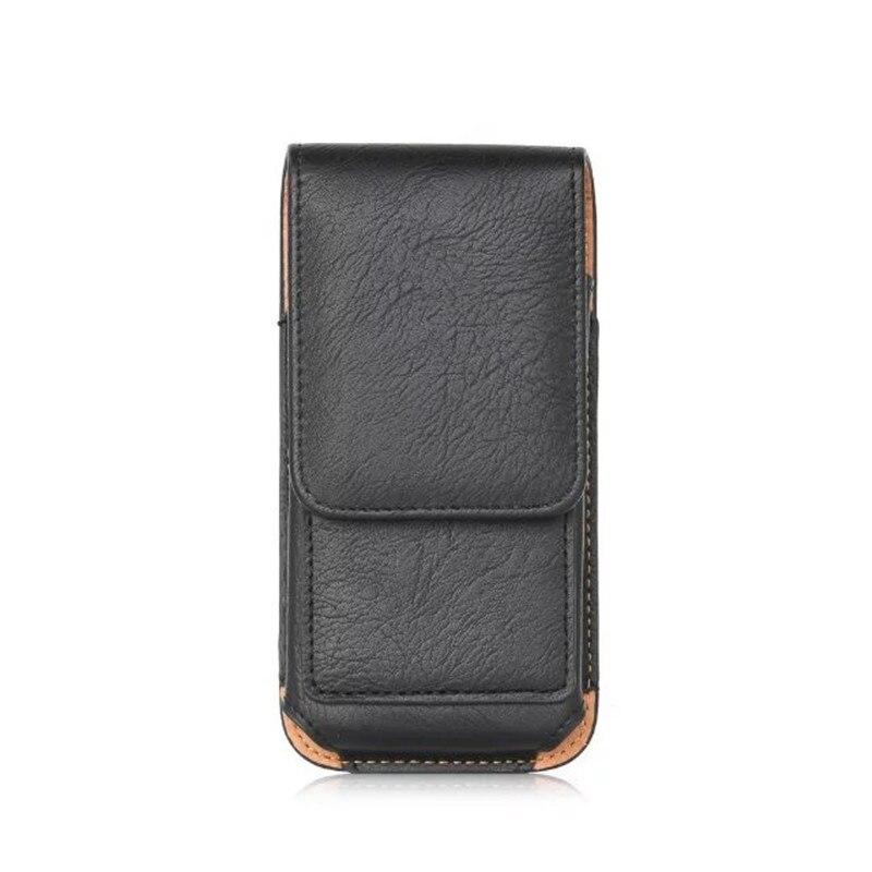 New Top grade Universal belt Slot Holster Skin Waist hanging Belt Clip Leather Pouch Cover Case For Motorola Moto G Turbo