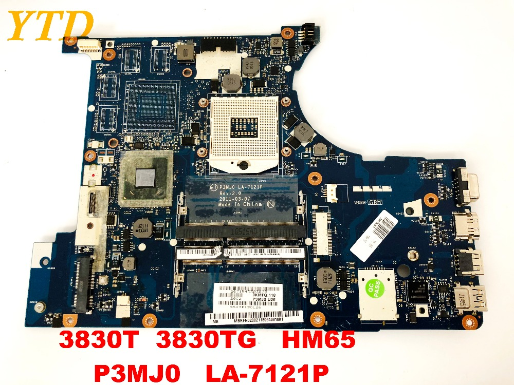 Original For ACER 3830T  3830TG Laptop Motherboard 3830T 3830TG  HM65  P3MJ0   LA-7121P Tested Good Free Shipping