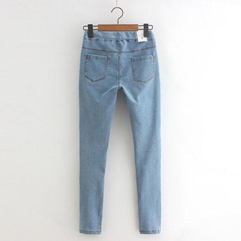 Image 4 - Rihschpiece 2018 Autumn Jeans Leggings Women Punk Black Jeggings High Waist Pants Slim Push Up Legging RZF1352-in Leggings from Women's Clothing