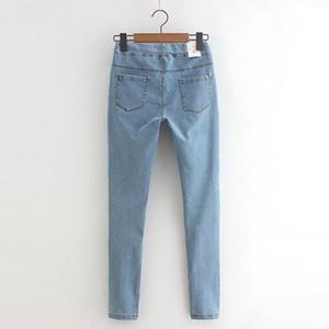 Image 4 - Rihschpiece 2018 Herfst Jeans Leggings Vrouwen Punk Black Jeggings Hoge Taille Broek Slanke Push Up Legging RZF1352