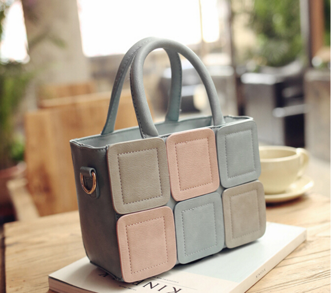 Fashion newest women's spring small handbag color block fashion handbag summer casual shoulder messenger bag u-4589